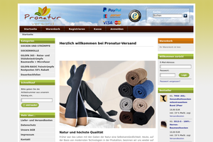 Vorschaubild der Homepage von PRONATUR - Backen wie im Holzbackofen