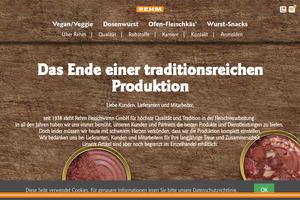 Vorschaubild der Homepage von Eugen Rehm - Esslinger Fleischwaren