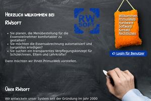 Vorschaubild der Homepage von RWsoft - Primus Web - ClickMen