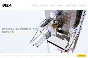 Vorschau der Homepage von Sela-Teigwarengeräte GmbH, 88326 Aulendorf