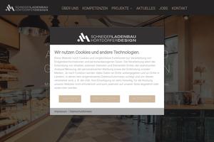 Vorschaubild der Homepage von D-74865 Schneider Ladenbau - Hörtdörfer Design