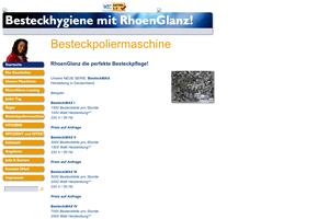 Vorschaubild der Homepage von Besteckhygiene von SpeedPolish