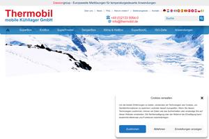 Vorschaubild der Homepage von Bäckereikälte von Thermobil