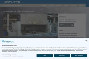 Vorschaubild der Homepage von Wächter-Reinigungssysteme - Reinigungsanlagen