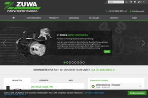 Vorschaubild der Homepage von ZUWA-Zumpe GmbH