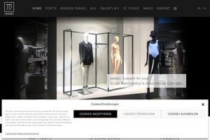 Vorschaubild der Homepage von JAKOBS-DMV Schaufensterfiguren und Shopdesign