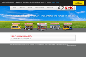 Vorschaubild der Homepage von K+K Verkaufsfahrzeuge GmbH & Co. KG