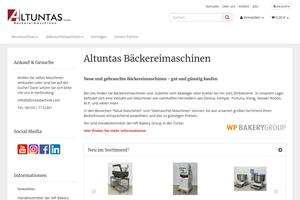 Vorschaubild der Homepage von Altuntas Bäckereimaschinen GmbH