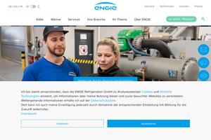 Vorschaubild der Homepage von ENGIE Refrigeration GmbH