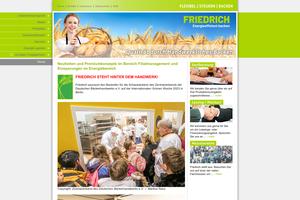 Vorschaubild der Homepage von Friedrich Solingen GmbH - Bäckerei-Backöfen