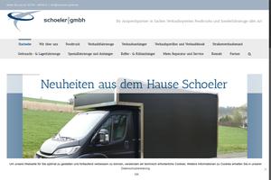 Vorschaubild der Homepage von Verkaufs und Spezialfahrzeugbau Schoeler GmbH