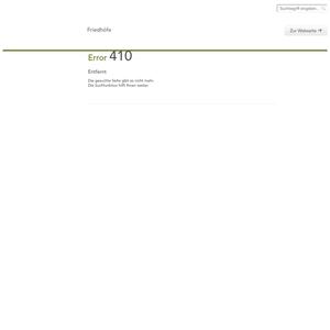 Screenshot Website von Friedhof Erlaa