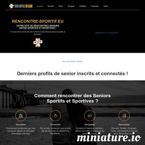 Rencontre-sportif.eu : Site de rencontre senior sportif et sportive