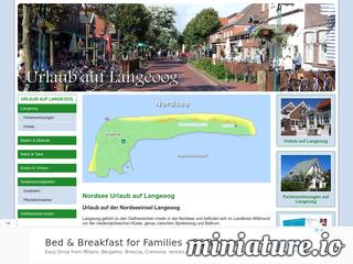 Urlaub auf der Nordseeinsel Langeoog