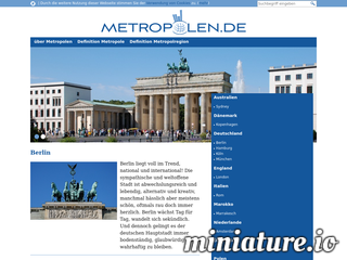Reiseführer für Metropolen