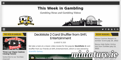 Read the full Article: DeckMate 2 Card Shuffler from SHFL Entertainment