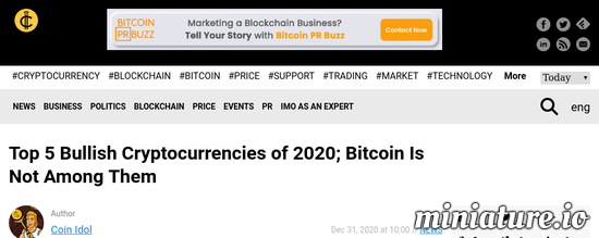 Cool huh? Please read the full Article: Top 5 Bullish Cryptocurrencies of 2020; Bitcoin Is Not Among Them