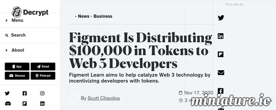 Cool huh? Please read the full Article: Figment Is Distributing $100,000 in Tokens to Web 3 Developers
