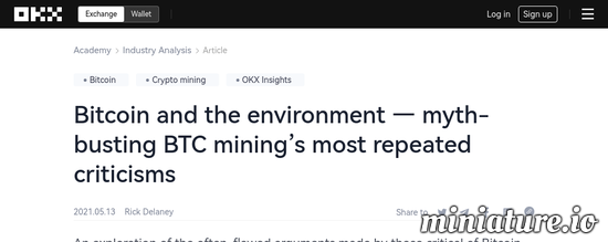 Cool huh? Please read the full Article: Bitcoin and the environment — myth-busting BTC mining's most repeated criticisms