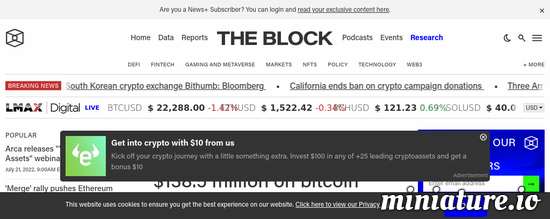 Cool huh? Please read the full Article: Riot Blockchain to spend $138.5 million on bitcoin mining hardware, with shipments scheduled through October 2022